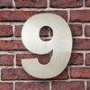 huisnummer 9 rvs Franklin Gothic 15cm opvallend roestvrij staal