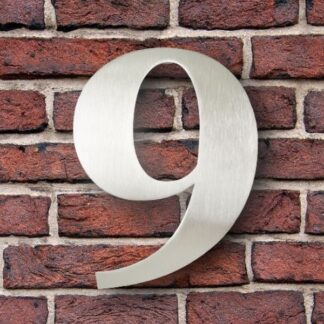 huisnummer 9 rvs georgia 15cm roestvast staal