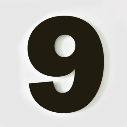 huisnummer 9 zwart 15cm Franklin Gothic industrieel