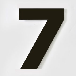 huisnummer zwart 7 verdana 15cm staal