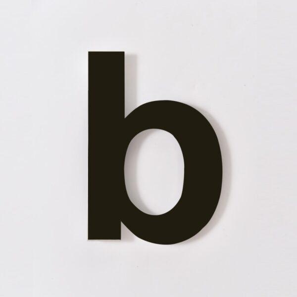 zwart huisnummer b