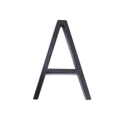 huisnummer toevoeging letter a zwart zink 125mm