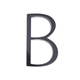 huisnummer toevoeging letter b zwart zink 125mm