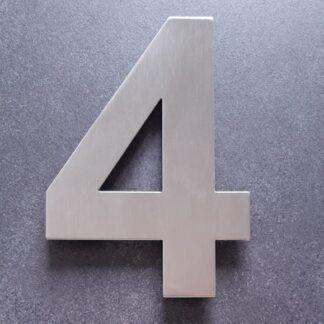 Huisnummers RVS Zilver