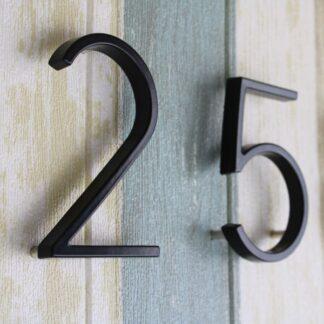Huisnummers zwart 12.5cm