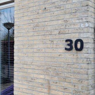 Huisnummers Zwart 15 cm Verdana