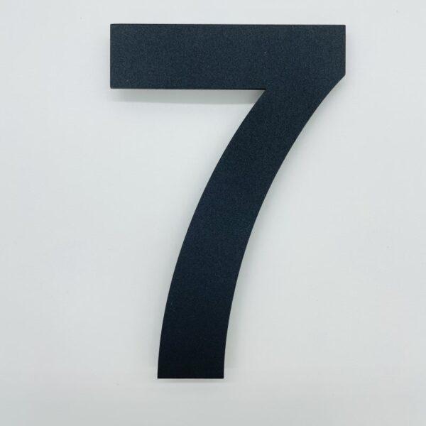 huisnummer 7 zwart rvs poedercoat