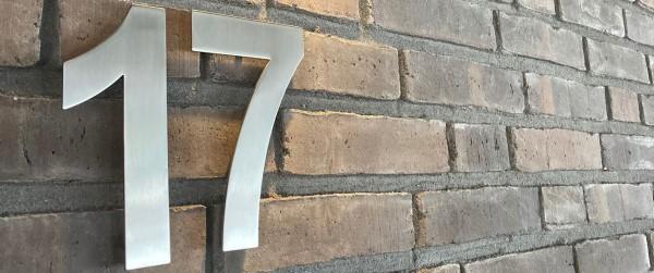 rvs huisnummers zilver