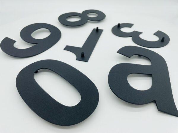 zwarte huisnummers poedercoat